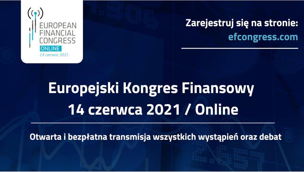 Zapraszamy na debaty hybrydowego XI Europejskiego Kongresu Finansowego
