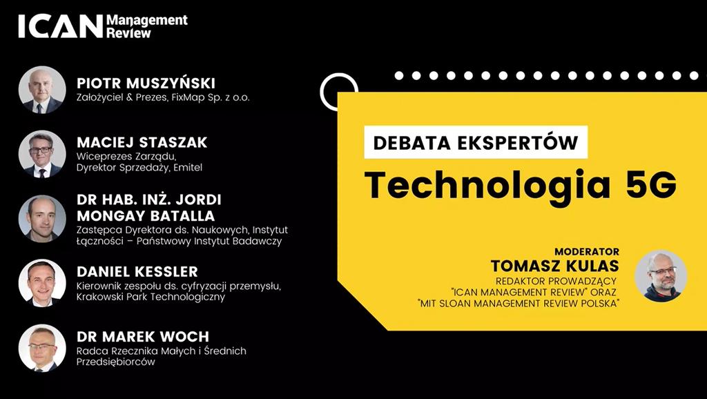 Technologia 5G – szanse iwyzwania dla polskiego biznesu. DEBATA EKSPERTÓW