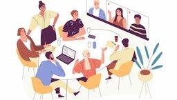 Flex office, jako część strategii biura hybrydowego
