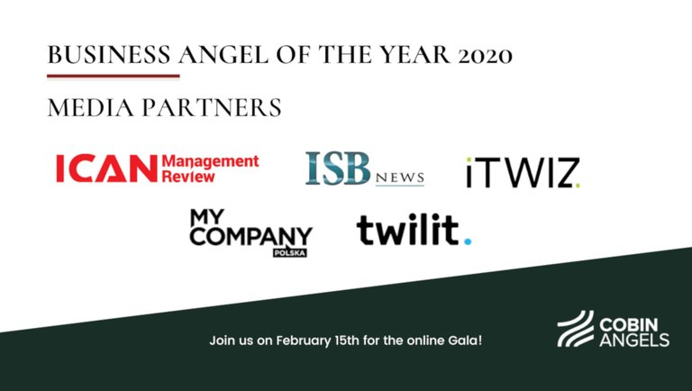Znamy finalistów konkursu Business Angel of the Year 2020