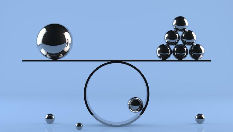 Równowaga izaangażowanie idą wparze